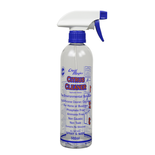 Liquid Magics Citrus Cleaner Applicator Bottle 500ml